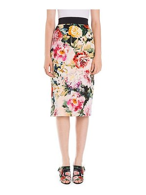 Dolce & Gabbana floral cady pencil skirt
