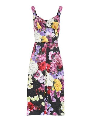 Dolce & Gabbana floral cotton-blend dress
