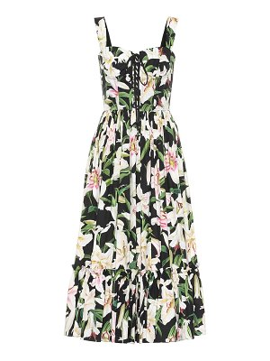 Dolce & Gabbana floral cotton midi dress