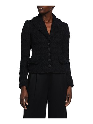 Dolce & Gabbana Floral Embroidered Boucle Jacket