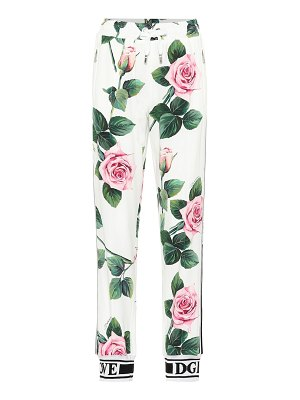 Dolce & Gabbana floral high-rise trackpants
