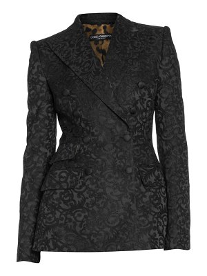 Dolce & Gabbana floral jacquard double breasted blazer