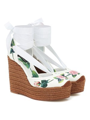 Dolce & Gabbana floral leather wedge espadrilles