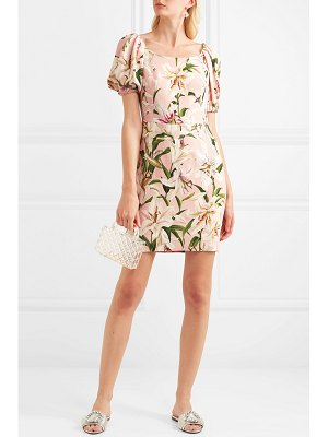 Dolce & Gabbana floral-print crepe mini dress