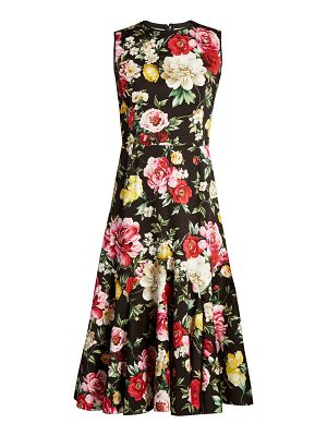 Dolce & Gabbana Floral-print stretch-cotton dress