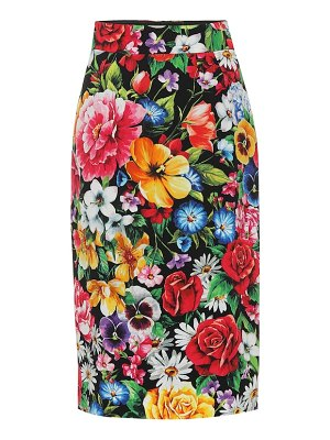 Dolce & Gabbana Floral-printed pencil skirt