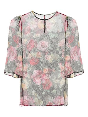 Dolce & Gabbana Floral-printed silk top