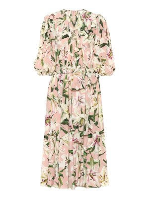 Dolce & Gabbana floral silk midi dress