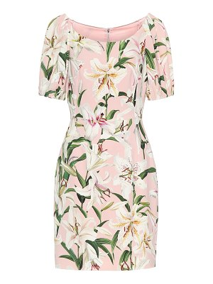 Dolce & Gabbana floral stretch-crãªpe dress