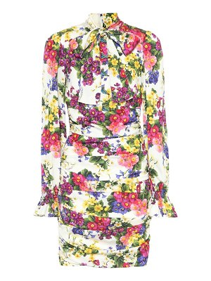 Dolce & Gabbana floral stretch silk dress