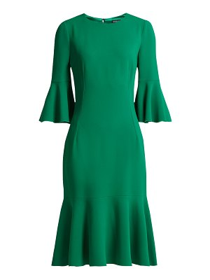 Dolce & Gabbana fluted hem cady midi dress