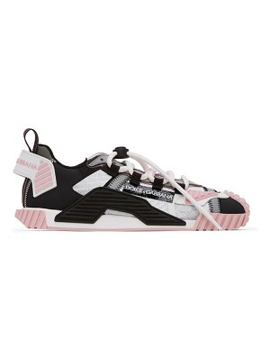 Dolce & Gabbana grey and black mesh and leather ns1 sneakers
