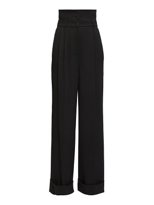 Dolce & Gabbana high-rise cady wide-leg trousers