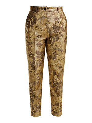 Dolce & Gabbana floral jacquard high rise cropped trousers