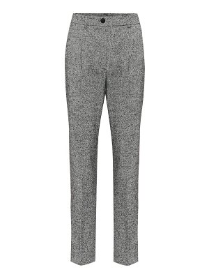 Dolce & Gabbana high-rise straight wool-blend pants