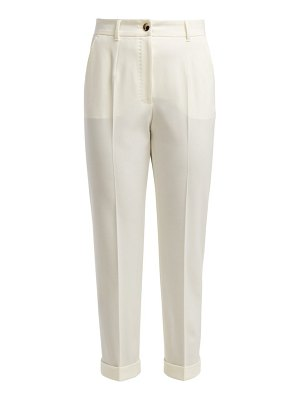 Dolce & Gabbana high rise wool blend cropped trousers