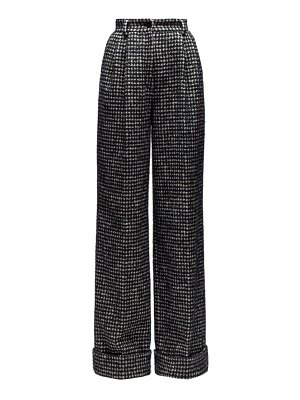 Dolce & Gabbana houndstooth wide leg trousers