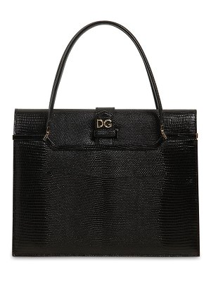 Dolce & Gabbana Ingrid iguana embossed leather bag