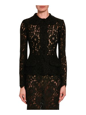 Dolce & Gabbana Lace Button-Front Top