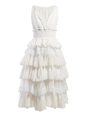 Dolce & Gabbana lace trimmed tiered dress