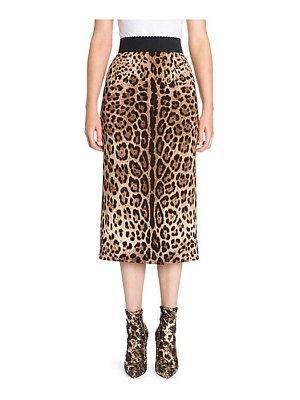Dolce & Gabbana leopard midi pencil skirt