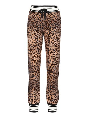 Dolce & Gabbana leopard-print cotton trackpants