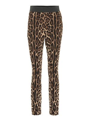 Dolce & Gabbana Leopard-print stretch leggings