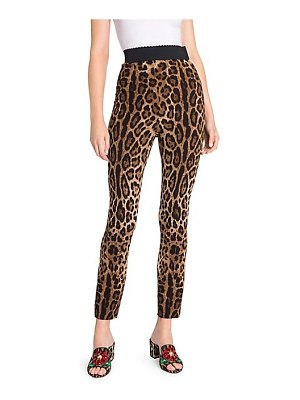 Dolce & Gabbana leopard stretch cady leggings