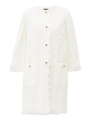 Dolce & Gabbana lily button guipure lace coat