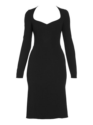 Dolce & Gabbana long-sleeve midi dress
