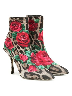 Dolce & Gabbana lori printed ankle boots