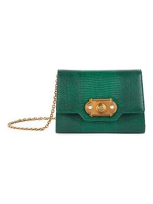 Dolce & Gabbana micro welcome lizard-embossed leather crossbody bag