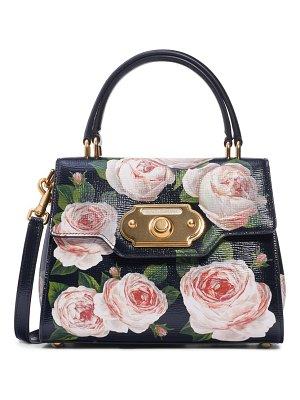 Dolce & Gabbana mini welcome floral print leather satchel
