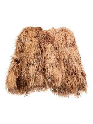 Dolce & Gabbana ostrich feather cropped bolero jacket