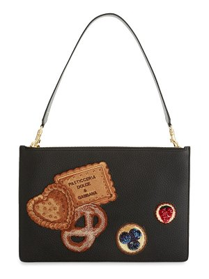 Dolce & Gabbana Patchwork Leather Clutch