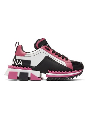 Dolce & Gabbana pink and black super queen sneakers