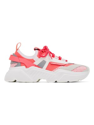Dolce & Gabbana pink stretch mesh daymaster sneakers