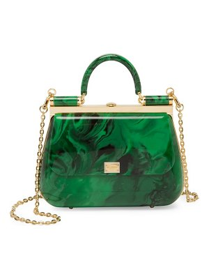 Dolce & Gabbana plexi top handle bag