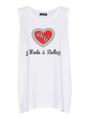 Dolce & Gabbana printed cotton tank top
