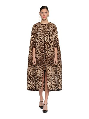 Dolce & Gabbana Printed double crepe long cape