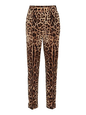 Dolce & Gabbana printed high-rise straight pants
