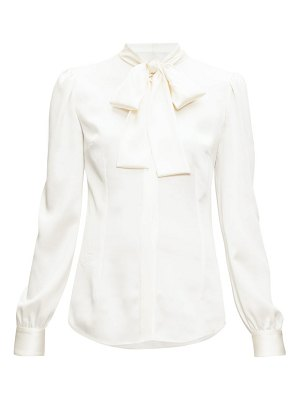 Dolce & Gabbana pussy-bow satin stretch blouse