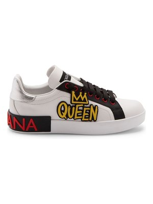 Dolce & Gabbana queen leather sneakers