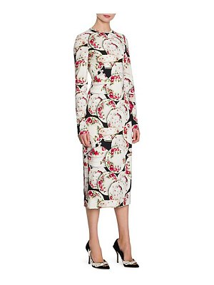 Dolce & Gabbana ruched floral print midi dress