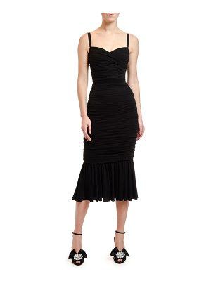 Dolce & Gabbana Ruched-Jersey Midi Dress