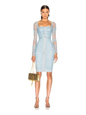 Dolce & Gabbana Ruched Long Sleeve Dress