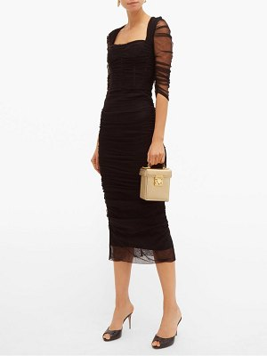 Dolce & Gabbana ruched tulle midi dress