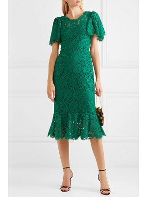Dolce & Gabbana ruffled corded lace midi dress