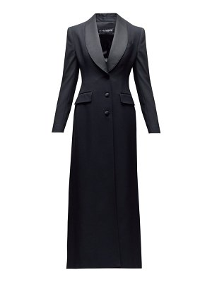 Dolce & Gabbana satin-lapel single-breasted wool-blend coat