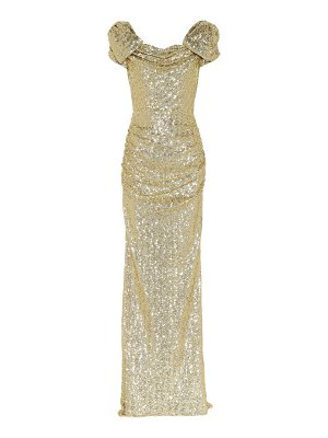 Dolce & Gabbana sequined puff-sleeve gown